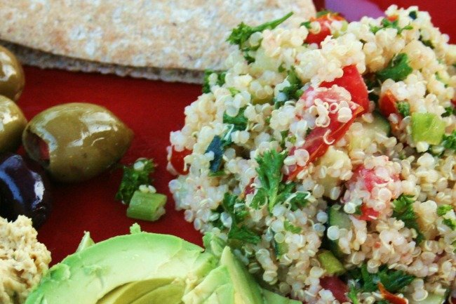 How to Use Celery Leaves | Quinoa Tabbouleh